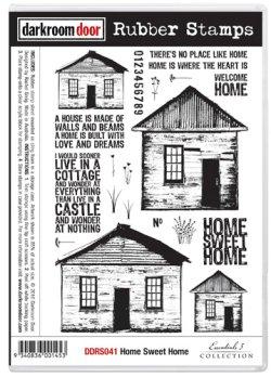 画像1: Home Sweet Home (cling foram stamp)