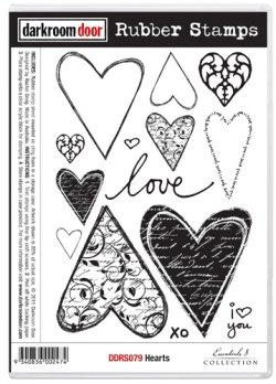 画像1: Hearts (cling foam stamp)