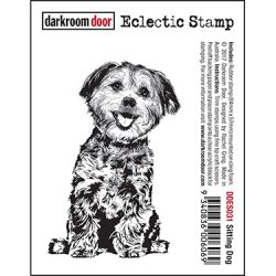 画像1: Sitting Dog : Eclectic Stamp