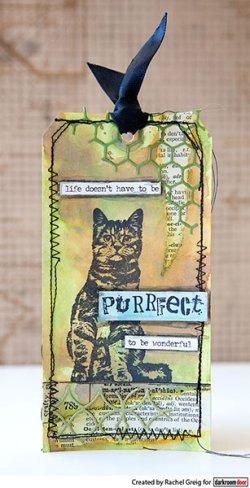 画像2: Sitting Cat : Eclectic Stamp