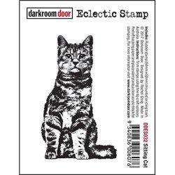 画像1: Sitting Cat : Eclectic Stamp