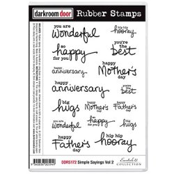 画像1: Simple Sayings Vol 2 (Cling  Foam Stamps)