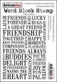 FRIENDSHIP-Word Block Stamps