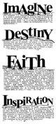 Imagine Faith Destiny Inspiration :Dictionary Stamp (UM)