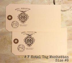 画像1: #F Hotel Tag/Manhattan Size #8 (10枚入り)