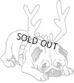 画像1: Pug Dog Reindeer