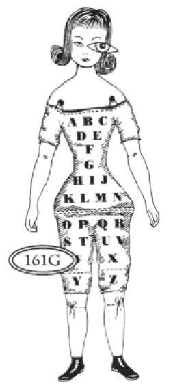 画像1: Alphabet Doll