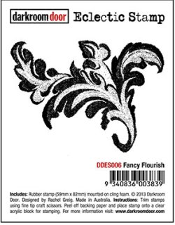 画像1: Fancy Flourish - Eclectic Stamp (Cling  Foam Stamp)
