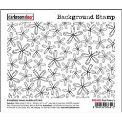 画像1: Fun Flowers - Background Stamp (Cling Foam Stamp)