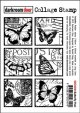 Butterfly Post-Collage Stamp
