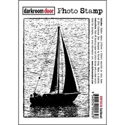 画像1: Sail Boat-Photo Stamp (Cling Foam Stamp)