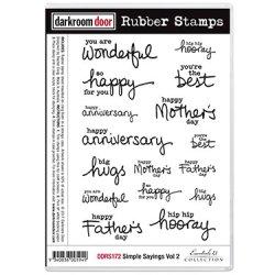 画像1: Simple Sayings Vol 2 (Cling  Foam Stamps)