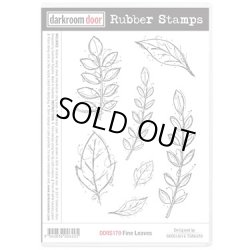 画像1: Fine Leaves (Cling  Foam Stamps)
