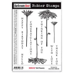 画像1: Tall Flowers(Cling  Foam Stamps)