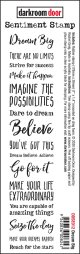 Dream Big   : Sentiment Stamps (Cling  Foam Stamps)