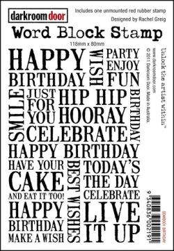 画像1: BIRTHDAY-Word Block Stamps