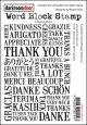 THANK YOU-Word Block Stamps