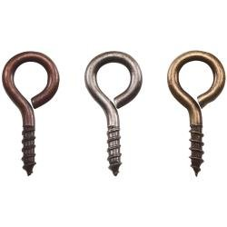 画像1: Idea-Ology Metal Screw Eyes(Antique Nickel, Brass & Copper)