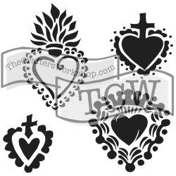 """画像1: Regal Hearts/Crafter's Workshop Template 6""""X6"""""""