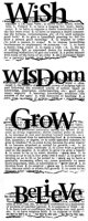 Wish Wisdom Grow Believe:Dictionary Stamp (UM)