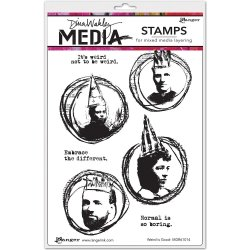 "画像1: Wired Is Good: Dina Wakley Media Cling Stamps 6""X9"""