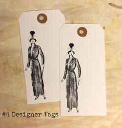 画像1: #4 Designer Tags (10枚入り)