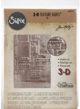 Foundry: Sizzix 3D Texture Fades Embossing Folder By Tim Holtz