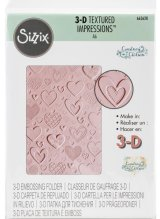 Hearts: Sizzix 3D Textured Impressions By Courtney Chilson