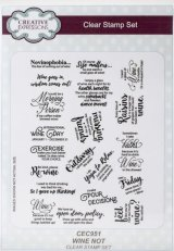 Wine Not :Creative Expressions A5 Clear Stamp Set