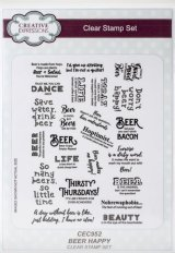 Beer Happy :Creative Expressions A5 Clear Stamp Set