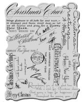 Christmas Background :Stampendous Cling Stamp
