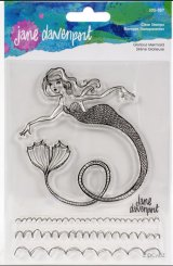 Glorious Mermaid :Jane Davenport Whimsical & Wild Collection Clear Stamps Set