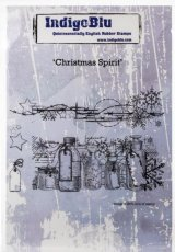 "Christmas Spirit :IndigoBlu Cling Mounted Stamp 5""X4"""