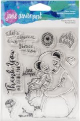 Panda Thank You :Jane Davenport Whimsical & Wild Collection Clear Stamps Set