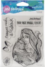 Purr-fect Cat :Jane Davenport Whimsical & Wild Collection Clear Stamps Set