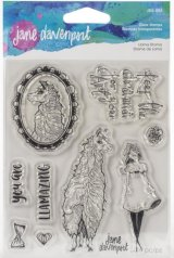 Llama Drama :Jane Davenport Whimsical & Wild Collection Clear Stamps Set