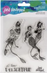 Singing Mermaids :Jane Davenport Whimsical & Wild Collection Clear Stamps Set