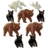 Bears : Eyelet Outlet Shape Brads 12/Pkg