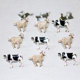 Cow & Goat Brads : Eyelet Outlet Shape Brads 12/Pkg