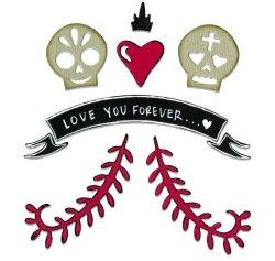 画像1: Day Of The Dead Couple In Love:Sizzix Thinlits Dies