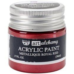 画像1: Metallique Royal Red /Finnabair:Art Alchemy Acrylic Paint 1.7 Fluid Ounces