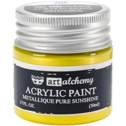 画像1: Metallique Pure Sunshine /Finnabair:Art Alchemy Acrylic Paint 1.7 Fluid Ounces