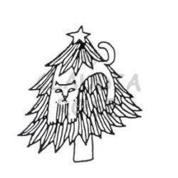 画像1: Up a Tree (Cling Stamp)