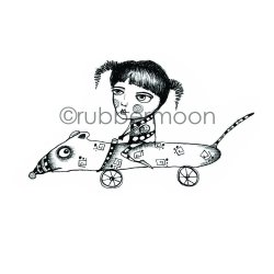 画像1: Rat Race (Cling Stamp)