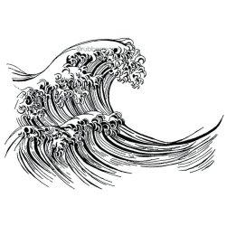 画像1: Water (Cling Stamp)