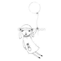 画像1: Beautiful Balloon Girl (Cling Stamp)