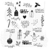 Seasonal Scribbles : Tim Holtz Cling Stamps