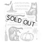 Snarky Cat Halloween : Tim Holtz Cling Stamps