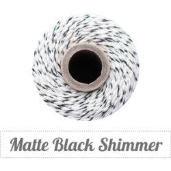 画像1: Matte Black Shimmer & Natural Twine Spool