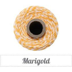 画像1: Marigold(Golden Yellow Orange & White)Eco-Luxe Baker's Twine
